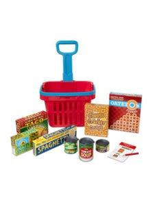 Melissa & Doug - Fill & Roll Grocery Basket Play Set