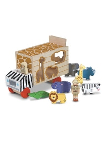 Melissa & Doug - Animal Rescue Shape Sorting truck