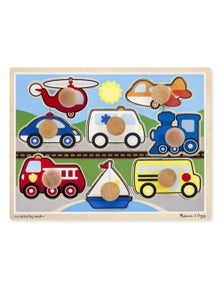 Melissa & Doug - Vehicles Jumbo Knob Puzzle