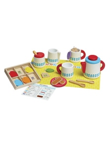 Melissa & Doug - Wooden Steep & Serve Tea Set
