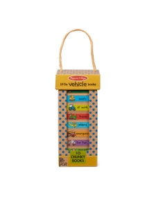 Melissa & Doug - Natural Play Book Tower - Little Vehicle Books