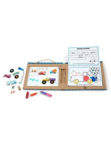 Melissa & Doug - Natural Play - Play Draw Create - Trucks
