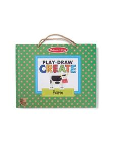 Melissa & Doug - Natural Play - Play Draw Create - Farm