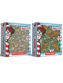 1000Pc Where'S Wally Puzzle - Knights Of The Magic Flag/Robin Hood Combo 2X