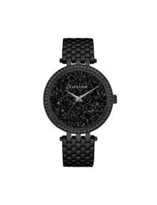 Caravelle By Bulova Women's Quartz Black Stainless Steel Watch 45L171