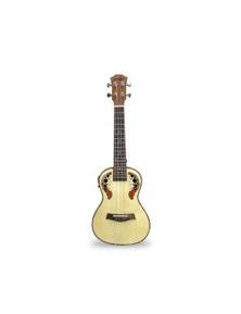"23"" Concert Ukulele Guitar 12 Fret Spruce 4 String EQ UK23ACEQ"