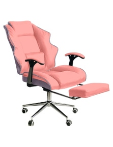High Back Reclining Executive Office Chair w/ Stool