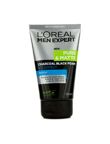 L'Oreal Men Expert Pure And Matte Icy Effect Charcoal Black Foam