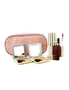 Kanebo Cheek And Lip Makeup Set With Pink Cosmetic Bag (2xCheek Color, 3xMode Gloss, 1xBrush, 1xCosmetic Bag)