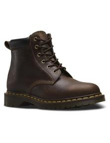 Dr. Martens 939 Ben Boots 6 Eye Shoes Crazy Horse Leather Dr Docs - Gaucho Brown
