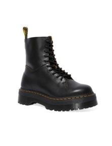 Dr. Martens Women's Jadon Decon 10 Eye Boots Shoes - Black Vintage Smooth