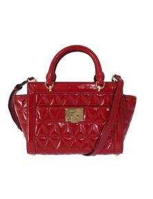 Michael Kors Red VIVIANNE Patent Messenger Bag