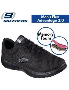 Skechers Men's Flex Advantage 2.0 Memory Foam Shoes Sneakers Runners - Black/Black
