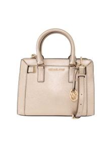 Michael Kors Pale Gold DILLON Leather Satchel Bag