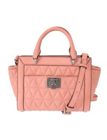 Michael Kors Pink VIVIANNE Leather Messenger Bag