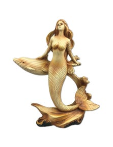 Seven Seas Mermaid and Dolphin Resin Plaque