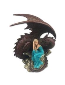 Dragons of Destiny Resin Plaque - Blue
