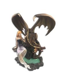 Dragons of Destiny Resin Plaque - Black