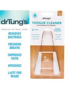 Dr Tung's COPPER TONGUE CLEANER Dental Hygiene Scraper Dr. Tungs Cu