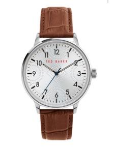 Ted Baker Cosmop Embossed Brown Watch