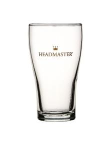 Crown Nucleated Headmaster Beer Schooner Glass 285ml