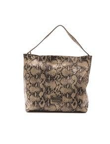 Pompei Donatella Tortora Taupe Shoulder Bag
