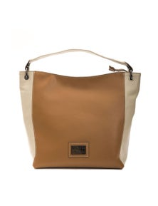 Pompei Donatella Beige Cuoio Shoulder Bag