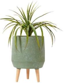 Ladelle Modern Dusty Green Legged Planter Pot
