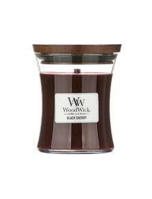 WoodWick Candle Medium 275g - Black Cherry
