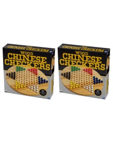 2Pk Cardinal Classic Wood Chinese Checkers Board Game