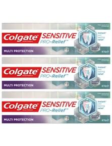 Colgate 110g Sensitive Pro Relief Multi Protection Bluetooth Paste 3x