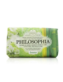 Nesti Dante Philosophia Natural Soap - Breeze - Citrus Peel, Red Basil And Lime With Chlorophyll And Bamboo