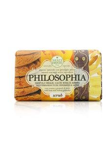 Nesti Dante Philosophia Natural Soap - Scrub - Mediterranean Plum, Persimmon And Amber With Bran And Walnut Granules