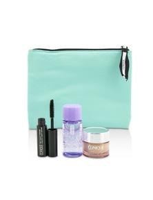 Clinique Travel Set: All About Eye 15ml + Mascara 3.5ml + Eye Makeup Remover 30ml+1Bag