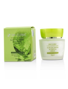 3W Clinic Aloe Full Water Activating Cream - For Dry to Normal Skin Types