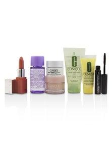 Clinique Travel Set: M/U Remover 30ml+Facial Soup 30ml+Moisture Surge 15ml+DDML 15ml+Moisture Cream 7ml+Mascara 2.5ml+Lip Color 2.3g