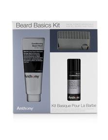 Anthony Beard Basics Kit: 1x Conditioning Beard Wash 177ml, 1x Pre-Shave + Conditioning Beard Oil 59ml, 1x Beard Comb