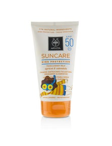 Apivita Suncare Kids Protection Face And Body Milk SPF 50 With Apricot And Calendula