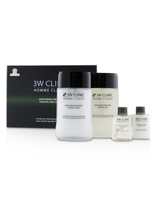 3W Clinic Homme Classic - Moisturizing Freshness Essential Skin Care Set: Essential Skin 150ml+30ml + Essential Lotion 150ml+30ml