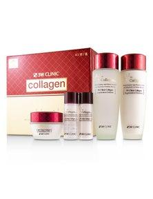 3W Clinic Collagen Skin Care Set: Softener 150ml + Emulsion 150ml + Cream 60ml + Softener 30ml + Emulsion 30ml