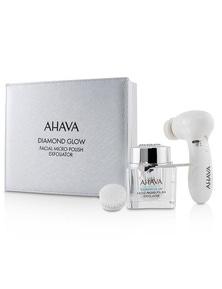 Ahava Diamond Glow Facial Micro-Polish Exfoliator (1x Micro-Exfoliating Cream 50ml, 1x Cleansing Device, 1x Brush Head)
