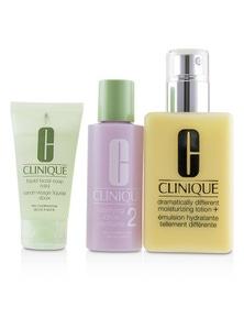 Clinique 3-Step Skin Care System (Skin Type 2): DDML+ 200ml + Clarifying Lotion 2 60ml + Liquid Facial Soap Mild 30ml