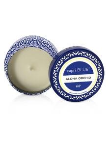 Capri Blue Printed Travel Tin Candle - Aloha Orchid