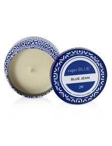 Capri Blue Printed Travel Tin Candle - Blue Jean