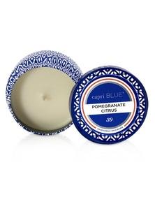 Capri Blue Printed Travel Tin Candle - Pomegranate Citrus