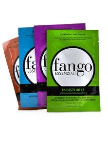 Borghese Fango Essenziali Treatment Sheet Mask Box Set (1x Moisturize Mask, 1x Purify Mask, 1x Calm Mask, 1x Energize Mask)