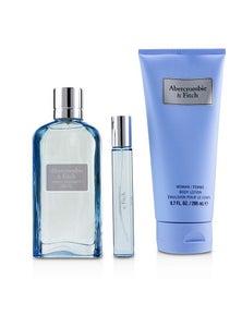 Abercrombie & Fitch First Instinct Blue Coffret: Eau De Parfum Spray 100ml/3.4oz + Body Lotion 200ml/6.7oz + Eau De Parfum Spray 15ml/0.5oz