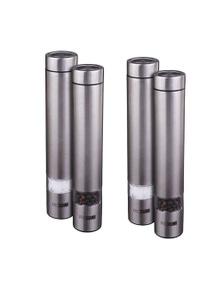 Pro Spice 18Cm Pilot Slimline Salt & Pepper Mill Set - Stainless Steel 2Pk