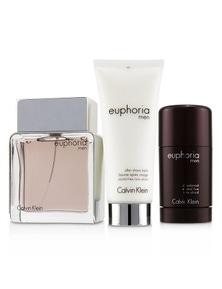 Calvin Klein Euphoria Men Coffret: Eau De Toilette Spray 100ml/3.4oz + Deodorant Stick 75g/2.6oz +After Shave Balm 100ml/3.4oz (Green Box)