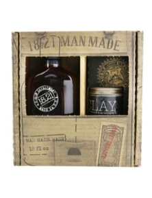 18.21 Man Made Man Made Wash And Clay Set - Sweet Tobacco: 1x Shampoo, Conditioner And Body Wash 530ml + 1x Hair Clay 56.7g